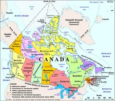Map of Canada - for those of you who are not sure where places are ;)