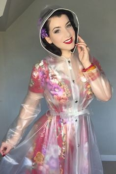 Raincoats For Women Polka Dots Refferal: 7380122924 Clear Raincoat, Vinyl Raincoat, Plastic Raincoat, Pvc Raincoat, Plastic Pants, Yellow Raincoat, Hooded Raincoat, Long Raincoat