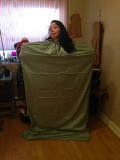 The finished product - hooded sleep sack for travel - make one with this how-to post!