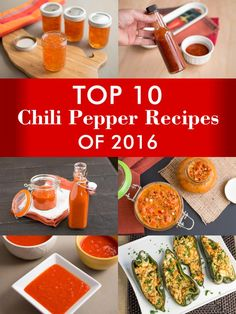 Top 10 Chili Pepper Recipes of 2016 - Check out which of our recipes made the top 10 list for all of 2016. Will it be a hot sauce again this year? Or a stuffed pepper recipe? Or something else entirely? Check it out.