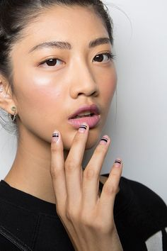 Tanya Taylor runway nail art ideas