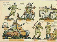 Cut soldiers: Motorised (Ed.Ameller, Recortables Luisin Army Num.5) - Foto 1