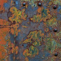 blue, orange, green and rust.