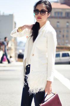 elizabeth & james - white blazer w/ a little extra.