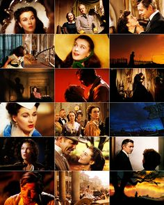 Scenes from the movie classic, 'Gone With The  Wind'
