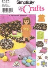 18 Inch Doll Patterns Furniture On Pinterest Bean Bag