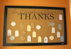 Rage Against the Minivan: A simple DIY gratitude board for Thanksgiving Catholic Bulletin Boards, Thanksgiving Bulletin Boards, Diy Thanksgiving, Fall Diy, Simple Diy, Give Thanks, Crafts To Do, Gratitude, Minivan