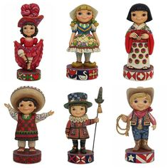 These it's a small world figures by Jim Shore are quite possibly the cutest thing ever!