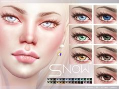 Snow Eyes N82 by Pralinesims at TSR via Sims 4 Updates
