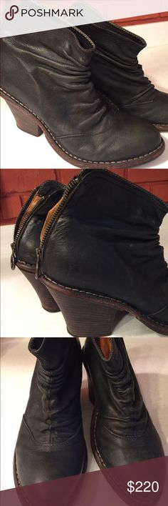 """Fiorentini+Baker Leather Booties! Hot Black leather Fiorentini+Baker booties! Nearly new, perfect condition. High end brand, excellent quality.  This style is listed as """"midnight blue,"""" but they are essentially black. Fiorentini + Baker Shoes Ankle Boots & Booties"""
