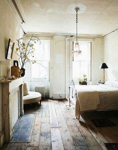 Reclaim wood floors make me so happy! #decoregoals @MyDomaine