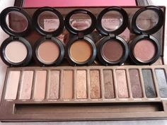Mac Me Over v's Naked Eyeshadow Pallette