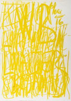 YOSEF JOSEPH DADOUNE    Yellow sun W.B. Walter Benjamin 10/02/16   Pastels on Nostalgique Hahnemühle paper  59,4 x 84,1cm (A1) - 190g/m²  Photographer: Yigal Pardo