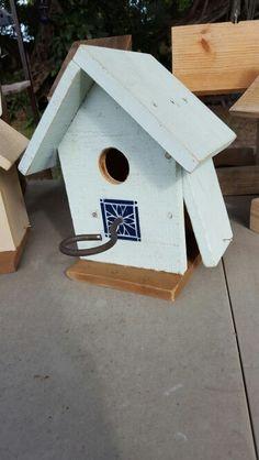 Baby blue  birdhouse  for snowbirds My Miami