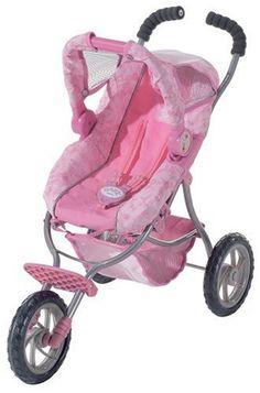 NEW-Zapf-Creations-Baby-Born-Deluxe-Pram-For-Dolls-Stroller-Jogger ...