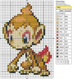 You've gotta love this flaming cheeky little monkey - that's right, today's free pattern is Chimchar!