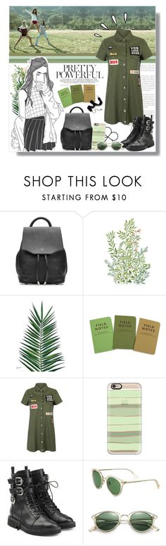 """Military Green"" by angelstylee ❤ liked on Polyvore featuring rag & bone, Vikki Chu, Nika, WithChic, Casetify, Giuseppe Zanotti, Oliver Peoples, Old Navy and Sweet Romance"