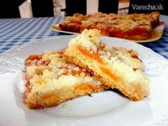 Krehký marhuľový koláč s maslovou posýpkou (fotorecept)