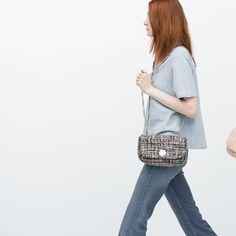 TWEED MESSENGER BAG from Zara
