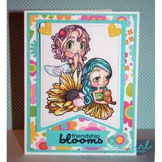 Forest Friend Fairy Digi Stamp | Some Odd Girl stamps – SomeOddGirl