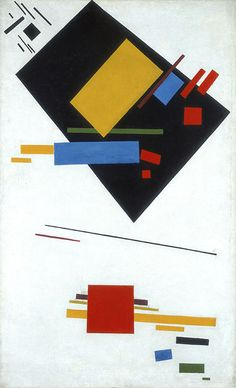Suprematist Painting (with Black Trapezium and Red Square) by Kazimir Malevich, 1915, Stedelijk Museum, Amsterdam