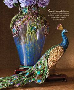 New Peacock Grand Vase.