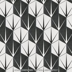 Merola Tile Trident Hex Blanco Encaustic in. Porcelain Floor and Wall Tile sq. / case)-FCDTRBX - The Home Depot Mosaic Tiles, Wall Tiles, Tiling, Shower Floor, Tile Floor, Artistic Tile, Tile Projects, Wall Patterns, Floor Patterns