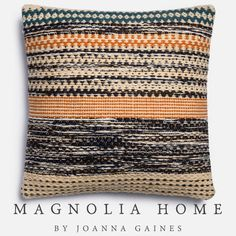 Magnolia Home Jordan Orange & Blue Oversize Pillow