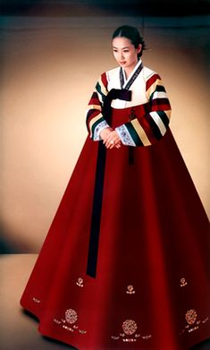 Hanbok, I need to get a new one and this red is GORGEOUS