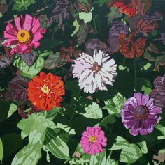 GridchinHall   Exhibitions   Oleg Maslov. Coneflowers and zinnias