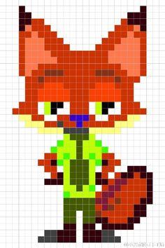 Nick - Zootopia perler bead pattern: