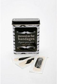 Hahahaha, moustaches. I'm pretty sure you would use these for fun and not for actual wounds