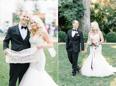Bride and groom at a gorgeous Southern wedding at the historic Duke Mansion in NC.  Aaron and Jillian Photography