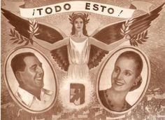 Eva y Peron Political Art, Scenic Design, Mona Lisa, Design Inspiration, Dani, Artist, Artwork, Movie Posters, Llamas