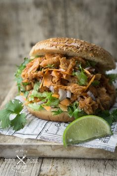 Beach House Kitchens, Home Kitchens, 200 Calories, Pulled Pork, Salmon Burgers, Bbq, Food Food, Ethnic Recipes, Shredded Pork
