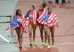 U.S. Women's 4x100 Sets World Record - Track & Field Slideshows | NBC Olympics
