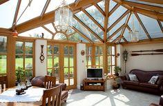 Enhance you home with a bespoke Oak Conservatory or Orangery - http://www.periodideas.com/enhance-home-bespoke-oak-conservatory-orangery
