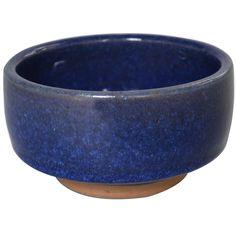 "Christian Poulsen Round bowl in cobalt blue glaze. Signed ""CHR-P tttIH."