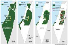 Risultati immagini per mappe geografiche Palestinese dal 1948