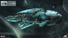 Jupiter Ascending - Aegis cruiser by Adam Kuczek   Sci-Fi   2D   CGSociety