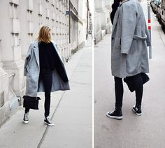 Get this look: http://lb.nu/look/8561569  More looks by Katarina Vidic: http://lb.nu/katiquette  Items in this look:  All Labels On My Blog, Converse Sneakers   #chic #classic #minimal