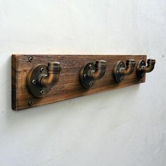 The Furniture Pipeline San Antonio Industrial Wall Coat Rack is a striking addition to any wall of your home. Diy Industrial Interior, Industrial Coat Rack, Modern Industrial Decor, Industrial Door, Industrial Interior Design, Industrial Interiors, Industrial Shelving Diy, Industrial Farmhouse, Industrial Furniture