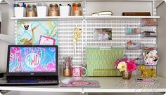 We're loving Dixie Delight's closet makeover using elfa shelving, drawers and boards!