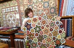 Threadbear: Lisa from Hay in NSW with her hexie quilt