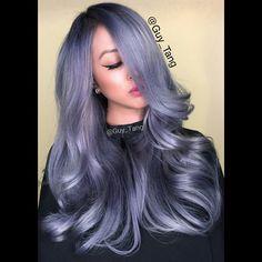 #storm my girl Lynna is here. @pravana silver blue violet. @l0velynna