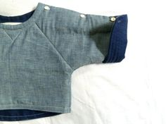Chambray & Linen Quilted Sweatshirt by HarrietsHaberdashery on etsy