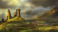 kyleakin, isle of skye, scotland..