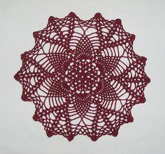 Ravelry: Cherry Blossoms Doily pattern by Judy Teague Treece Crochet Cross, Crochet Art, Crochet Home, Thread Crochet, Crochet Doilies, Crochet Stitches, Doily Patterns, Crochet Projects, Crochet Ideas