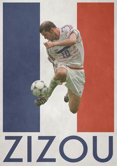 Zinedine Zidane France Poster via Behance