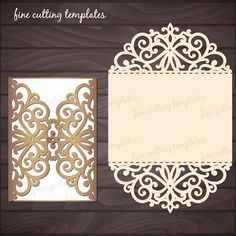 Roses Wedding Luxury Card Template for cutting file svg dxf Laser Cut Wedding Invitations, Wedding Invitation Design, Shower Invitations, Wedding Stationery, Invitation Cards, Laser Cut Invitation, Invitation Templates, Tri Fold Cards, Karten Diy